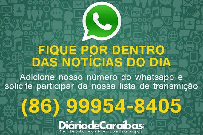Receba os conteúdos do DiáriodeCaraíbas.com.br através do WhatsApp