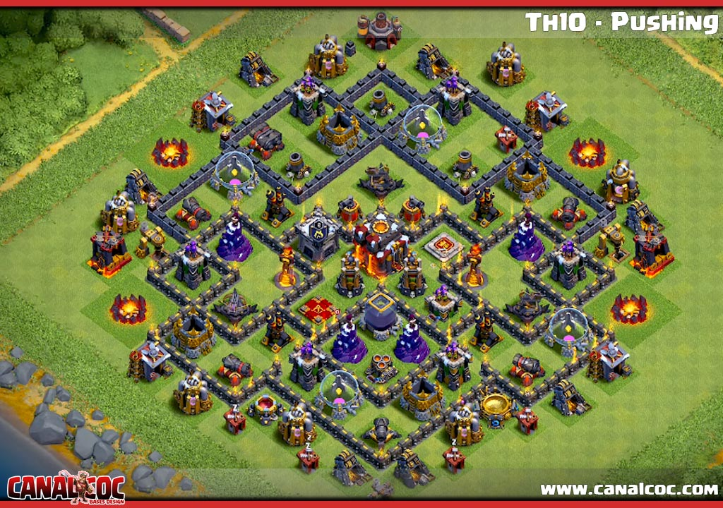 ➥ BASE TH10 - PUSHING #1119 - Canal CoC