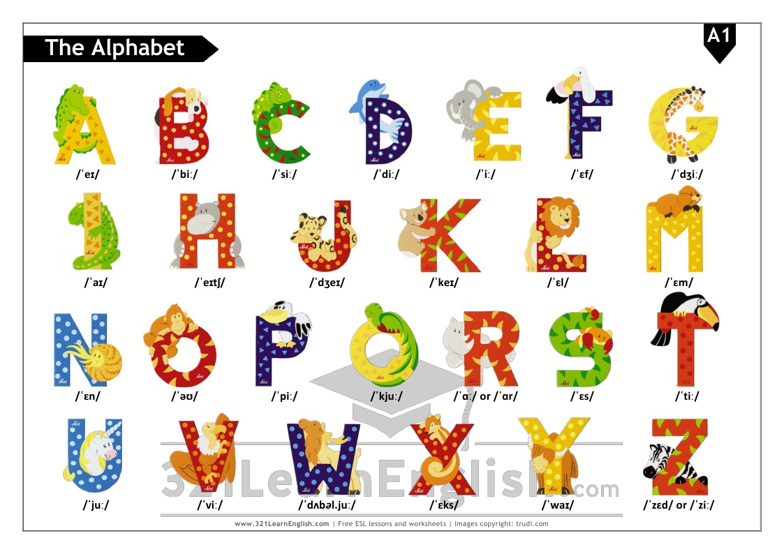 321 Learn English Phonetics The English Alphabet Level A1