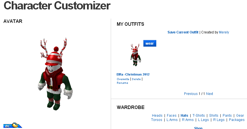 Robloxian News Network: ROBLOX Outfit Extension