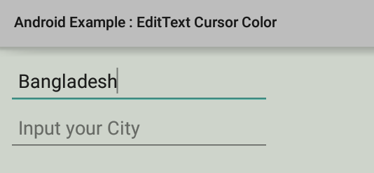 How to change EditText cursor color in Android