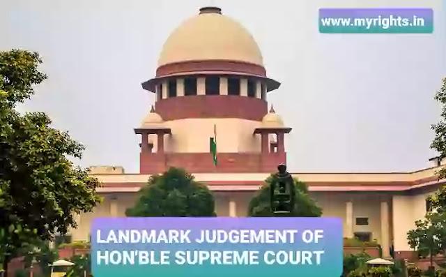 Supreme Court Judgement on maintenance