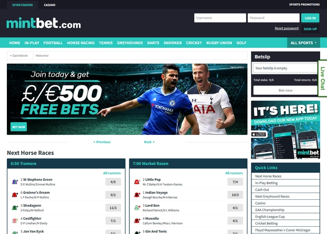 Mintbet Screen