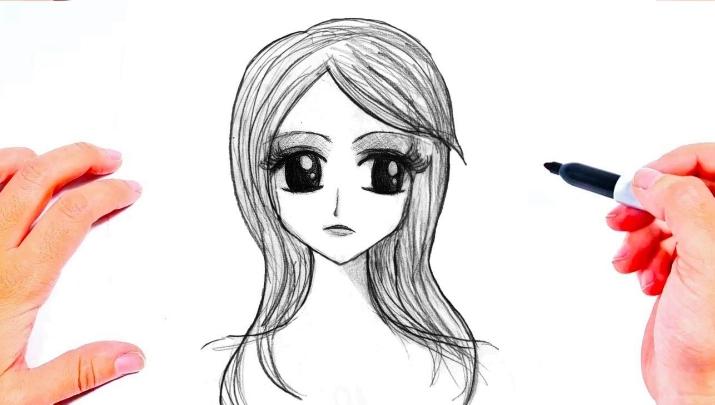 رسم بنات سهلة وجميلة وبسيطة خطوة بخطوة