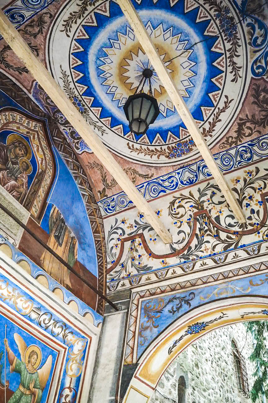 Fresco in Rila Monastery, Bulgaria