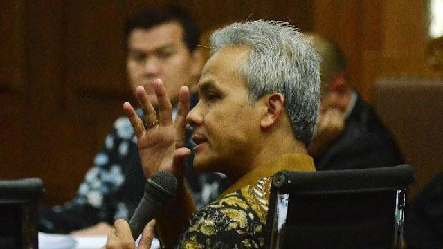 Kata Ganjar Pranowo Soal Namanya yang Hilang di Dakwaan Novanto