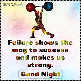 Good night Motivational status