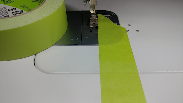 Painter's tape as a seam guide