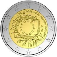 2€ Drapeau Européen 2015 Belgique