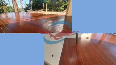 proyek decking kayu ulin kalimantan