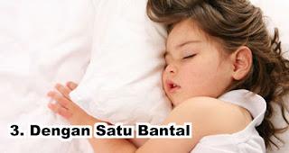 Sifat orang yang tidur dengan Satu Bantal