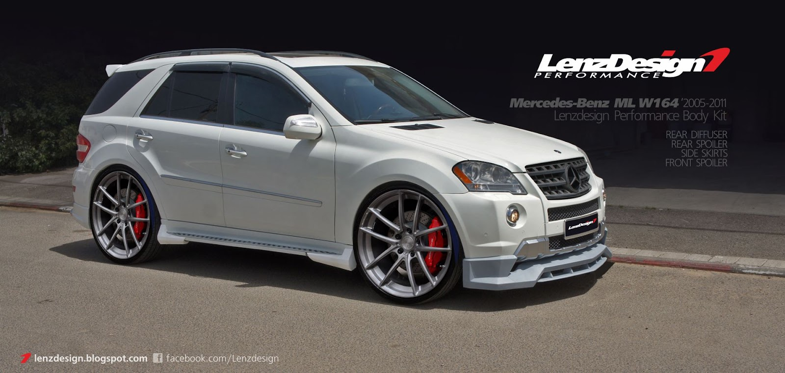 Mercedes Benz Ml W164 Tuning Wide Body Kit Lenzdesign