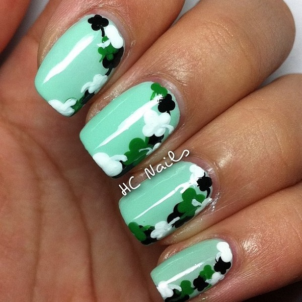 Easy Four Leaf Clover Nail Design Fashion Hippoo