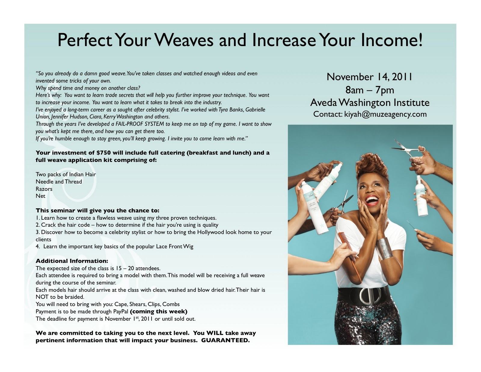 Kiyah Wright Perfect Your Weaves And Increase Your Income