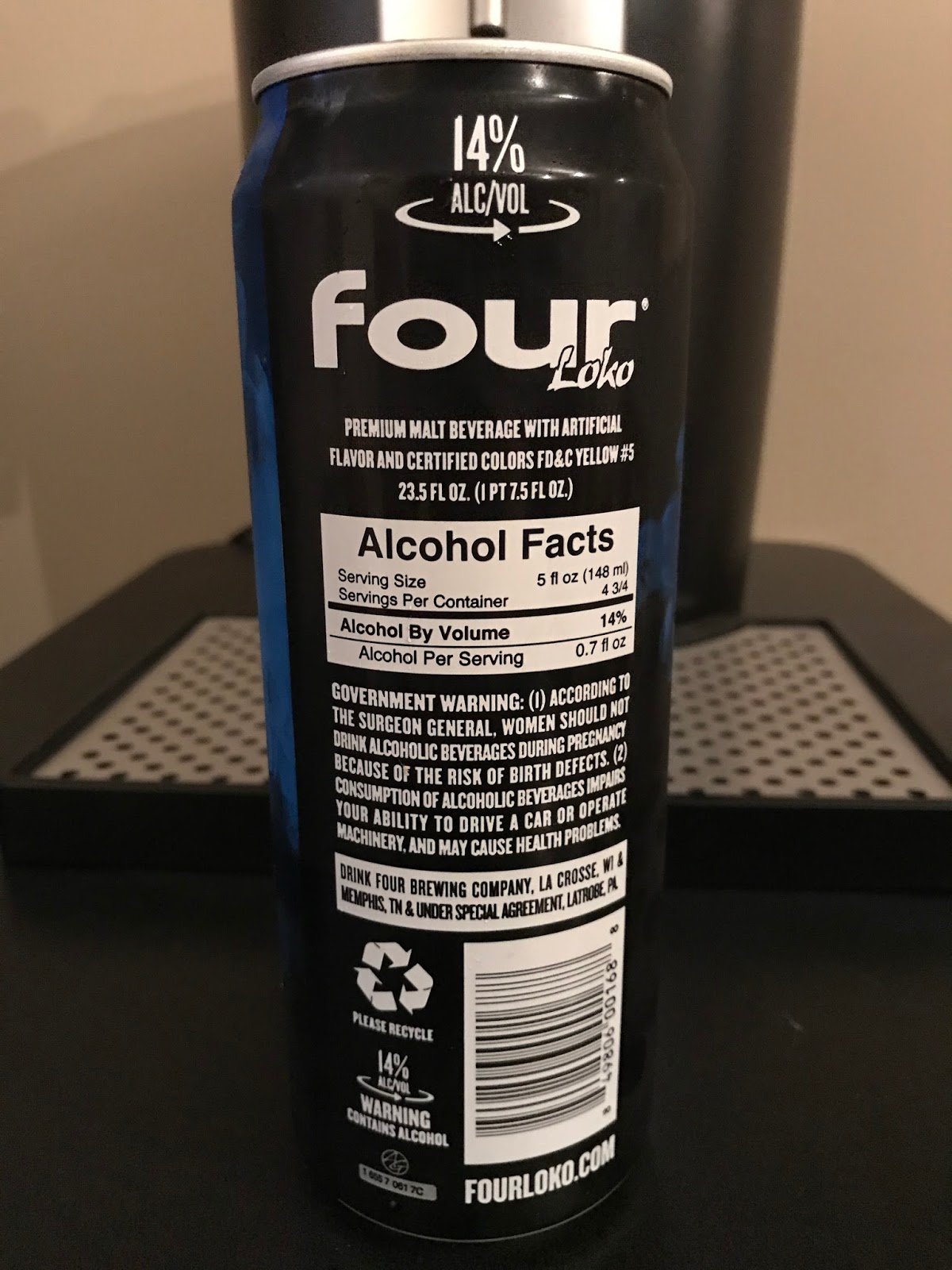 That 14% Four Loko Seltzer Has More Calories Than You