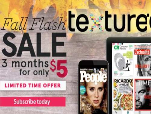 Texture Black Friday/Cyber Monday 3 Months Subscription for only $5