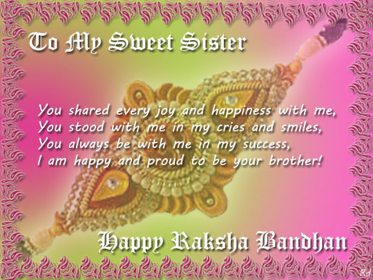 Raksha Bandhan Greetings Card Ecards and Cliparts For Brother And Sister 2017