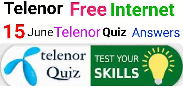 15 june telenor quiz answers today | telenor quiz answers today | test your skills today