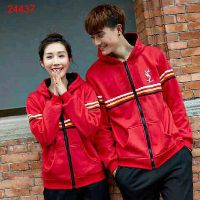 Jual Jacket Couple Jacket Sport YSL Merah - 24437