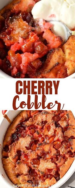 best ever cherry cobbler