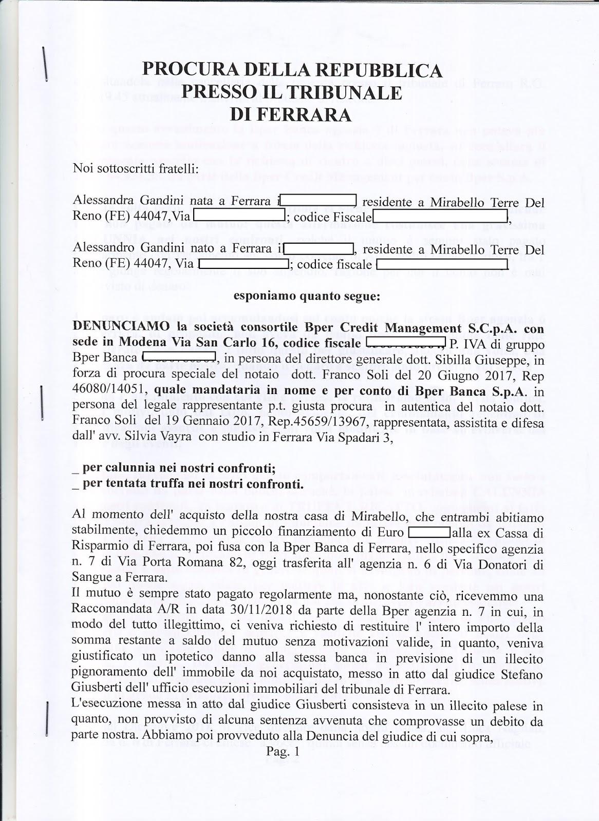 LA FAMIGLIA GANDINI DI FERRARA. STORIA ATROCE DI ...