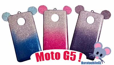 carcasa brillo oreja color Moto G5