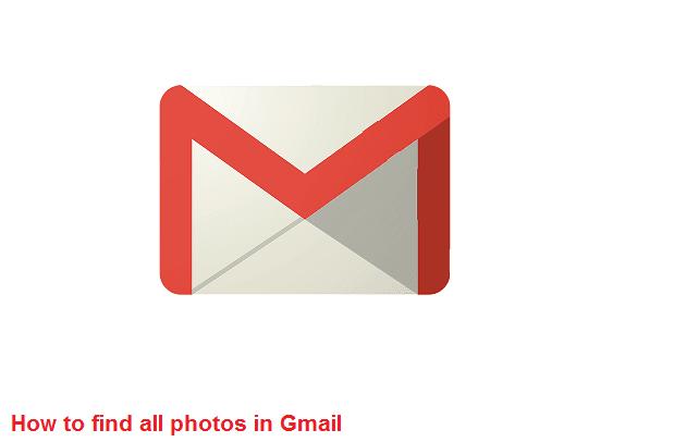 Cara mencari foto di gmail