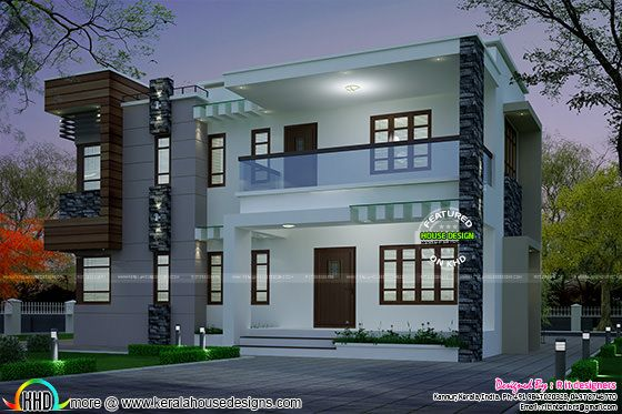 Modern style home in with a special design element