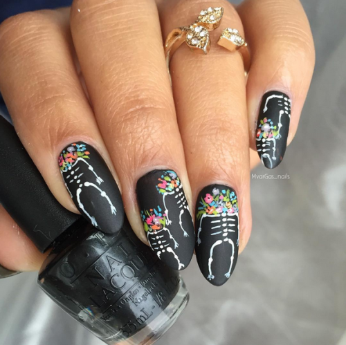 Spanish Sugar Skeleton Nail Art Essentials