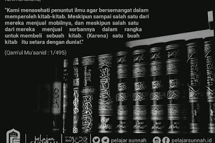 "Share poster islami "" SEBUAH KITAB SEBANDING DENGAN DUNIA"""