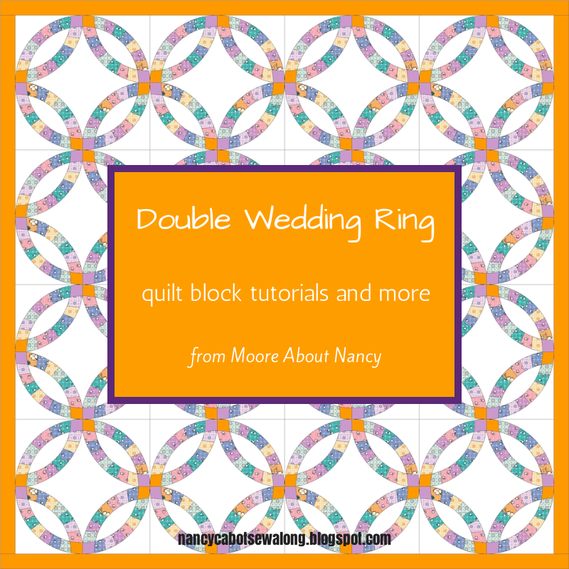 Moore About Nancy: Double Wedding Ring Quilt Block