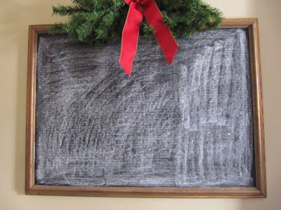 framed chalkboard fabric