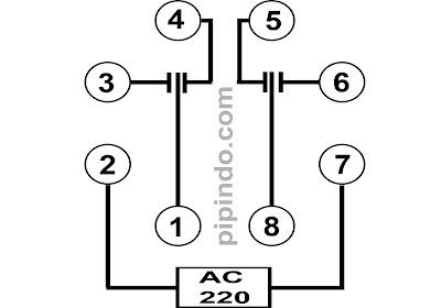 Relay omron bekerja secara elektromagnetik, apabila coil pada relay teraliri listrik maka beberapa kontak akan terbuka