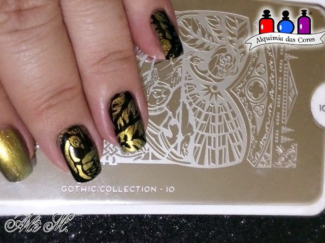 Moyou London, Gothic Collection 01, Gothic Collection 10, Moyou London Nail Lacquer Ginger Rust, Multichrome, Alê M., El Corazon, 423/766 Universe Omega Centauri, La Femme, Carimbada, Black, DNA Italy, Avon, Branco Absoluto