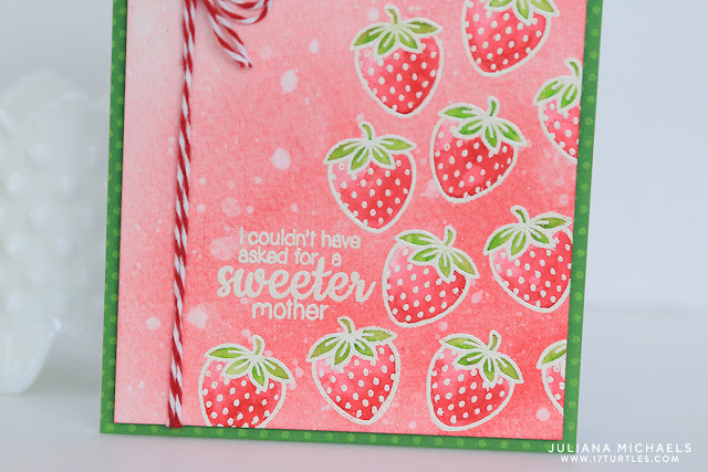 Sweeter Mother Watercolor Bleaching Technique by Juliana Michaels featuring Sunny Studio Stamps Fresh and Fruity