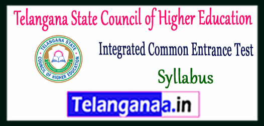 TS ICET Telangana Integrated Common Entrance Test Syllabus 2018