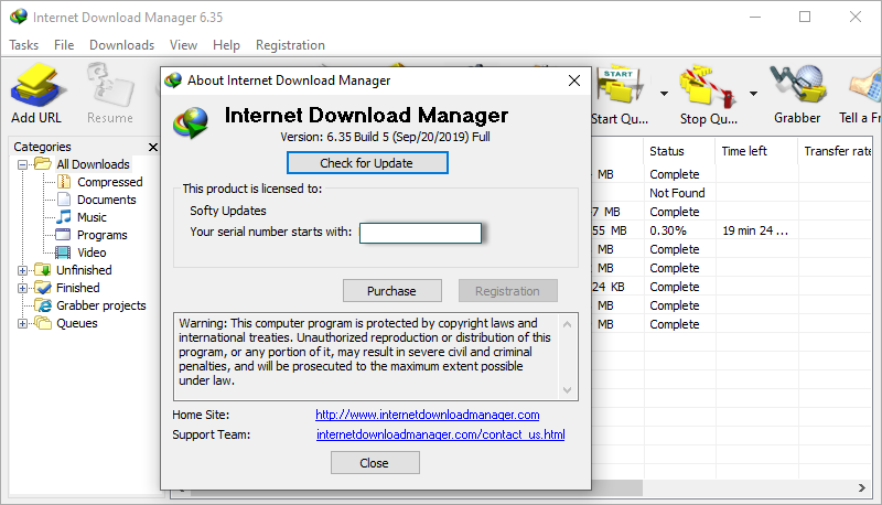 Internet Download Manager 6.35 Build 5