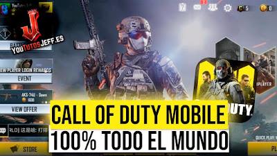 Jugar Call of Duty Mobile Gratis para Todo el Mundo 100% Efectivo