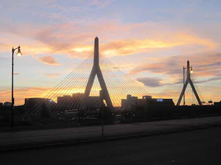 Zakim Bridge At Sunset.