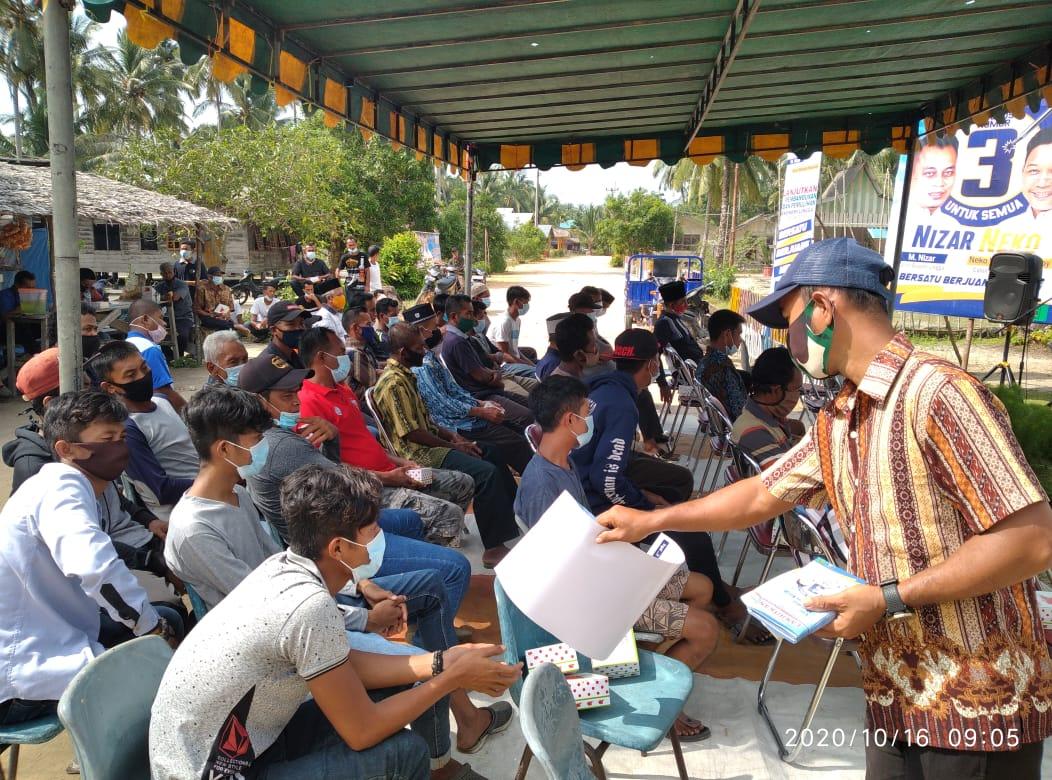 Antusias Tim Relawan dan Simpatisan Warga Desa Resang Sangat Tinggi Menyambut Paslon Nizar-Neko