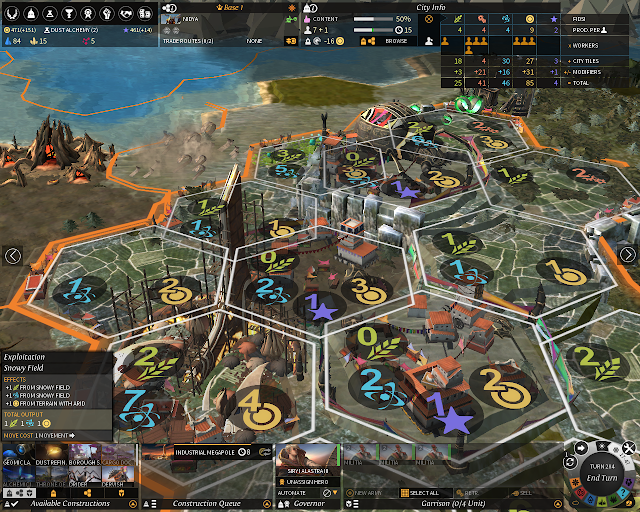 Managing the City | Endless Legend Game Screenshot