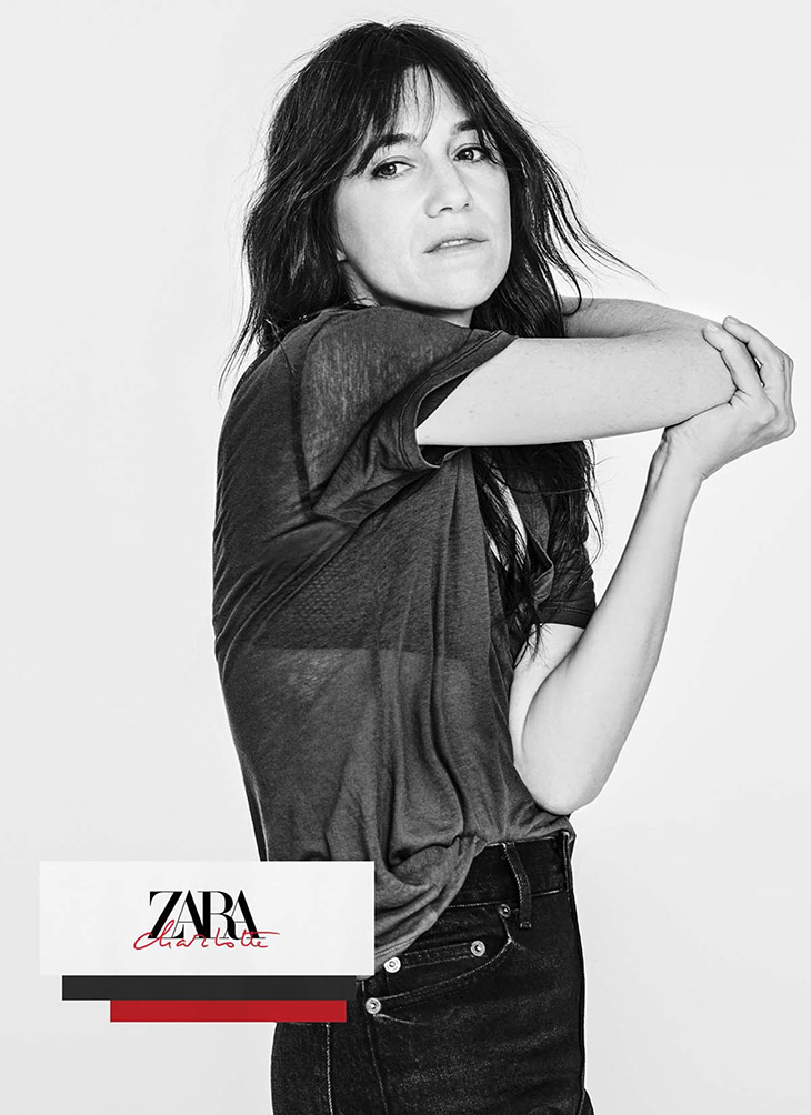 CHARLOTTE GAINSBOURG COLLECTION FOR ZARA