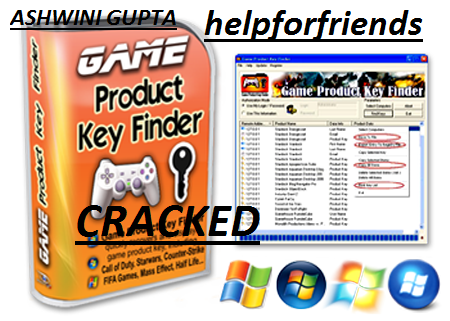 Help For Friends: Game Product Key Finder CRACKED and PATCH