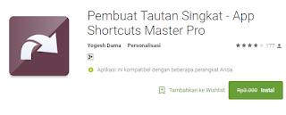 Pembuat Tautan Singkat - App Shortcuts Master Pro