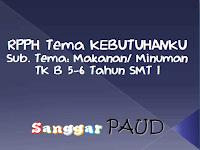 RPPH TK B Tema KEBUTUHANKU Sub. Tema: Makanan/ Minuman MINGGU 8 SMT 1