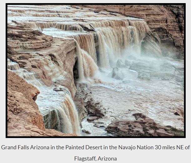 Grand Falls - Arizona in Spring