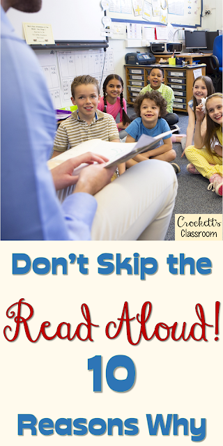 Reading aloud to your students should always be a part of your day. Unfortunately, it is one of the things that often gets squeezed out.  Find out why it's so important to read aloud to your students.