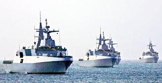 South African Navy fleet of four valour class ships