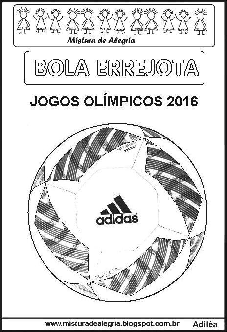 cf2b0b91a404e Jogos olímpicos e bola errejota Desenho da bola errejota para colorir