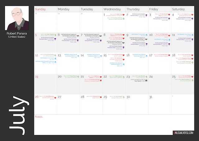Deaf Calendar July 2020